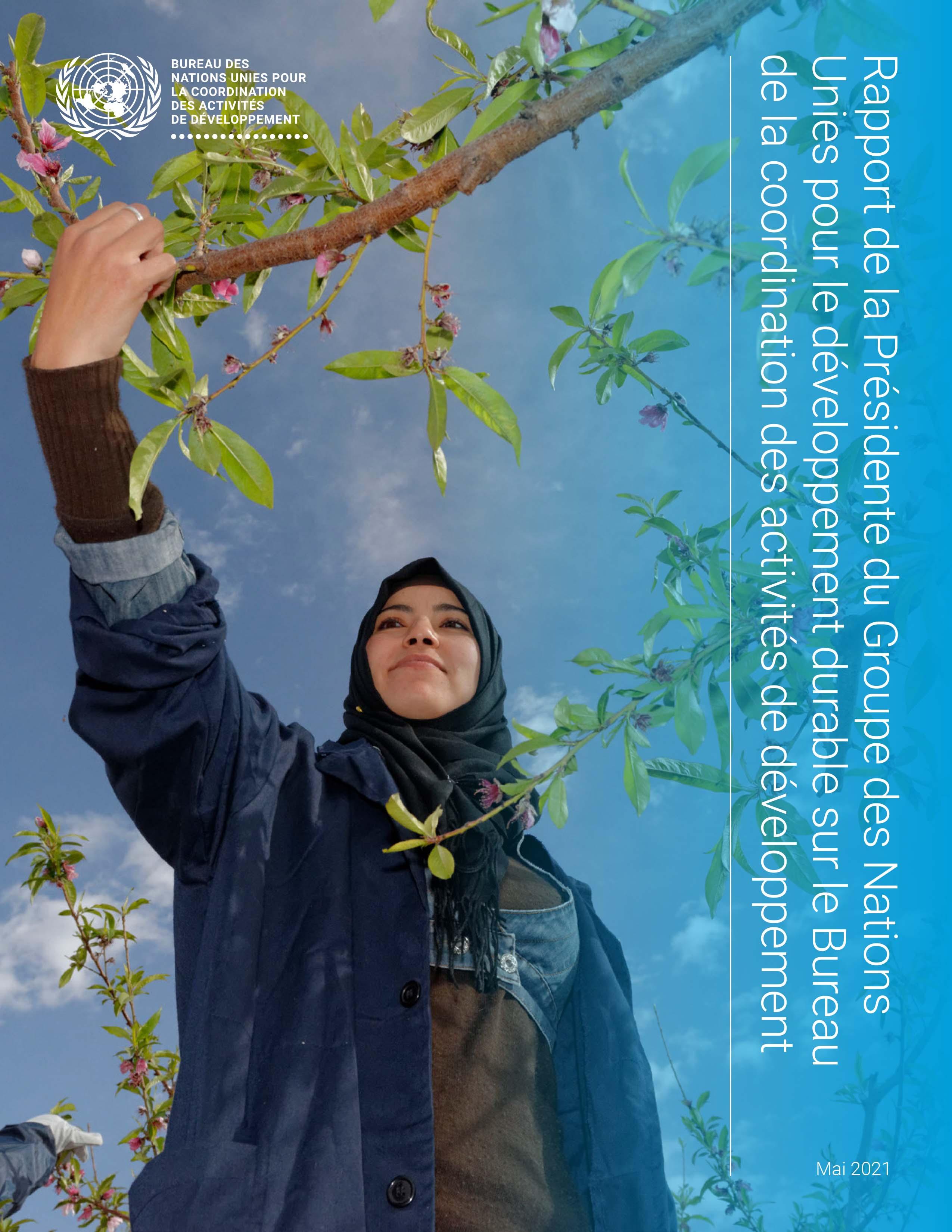 Rapport de la Présidente du Groupe des Nations Unies pour le développement durable sur le Bureau de la coordination des activités de développement